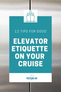 good elevator etiquette