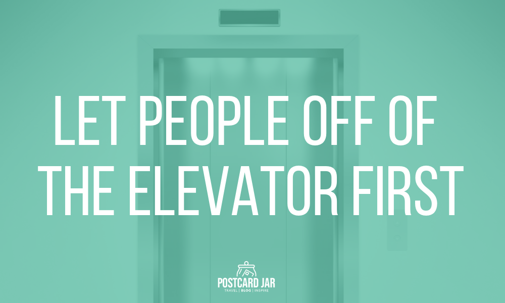 Elevator etiquette on a cruise ship