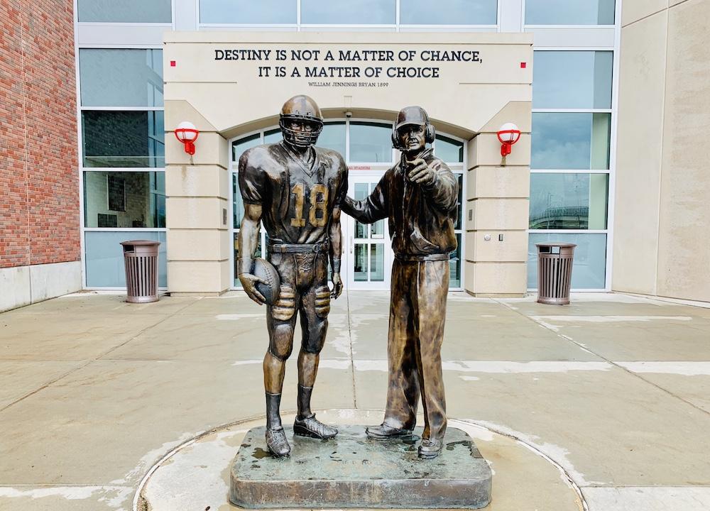 Memorial Stadium Lincoln Osborne Berringer statue
