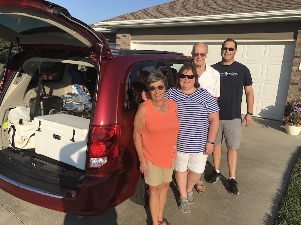 Minivan trip with Steve's Parents