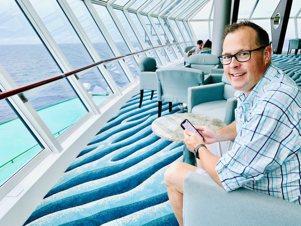 relaxing on the celebrity summit