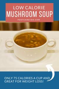 low calorie mushroom soup pin