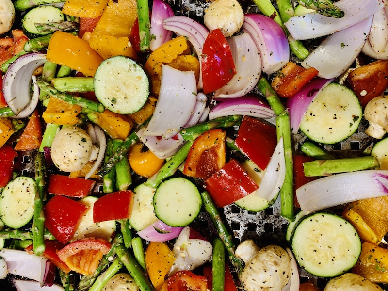 veggies ready for the grill