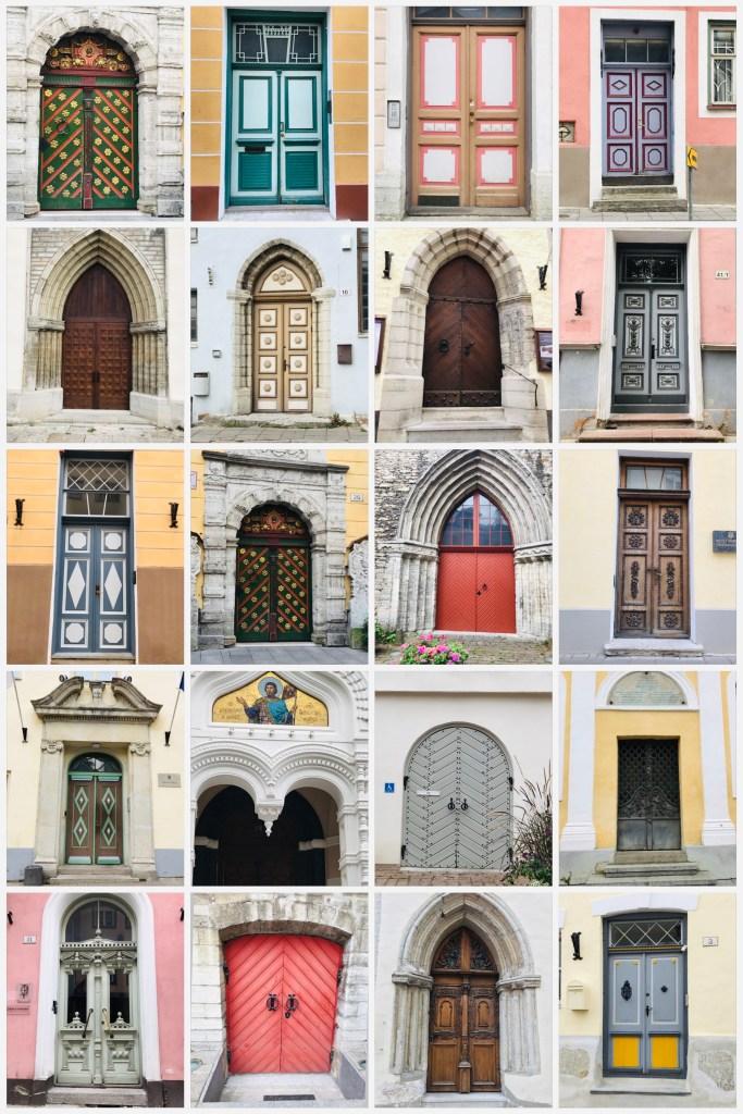 The Beautiful Doorways of Tallinn, Estonia