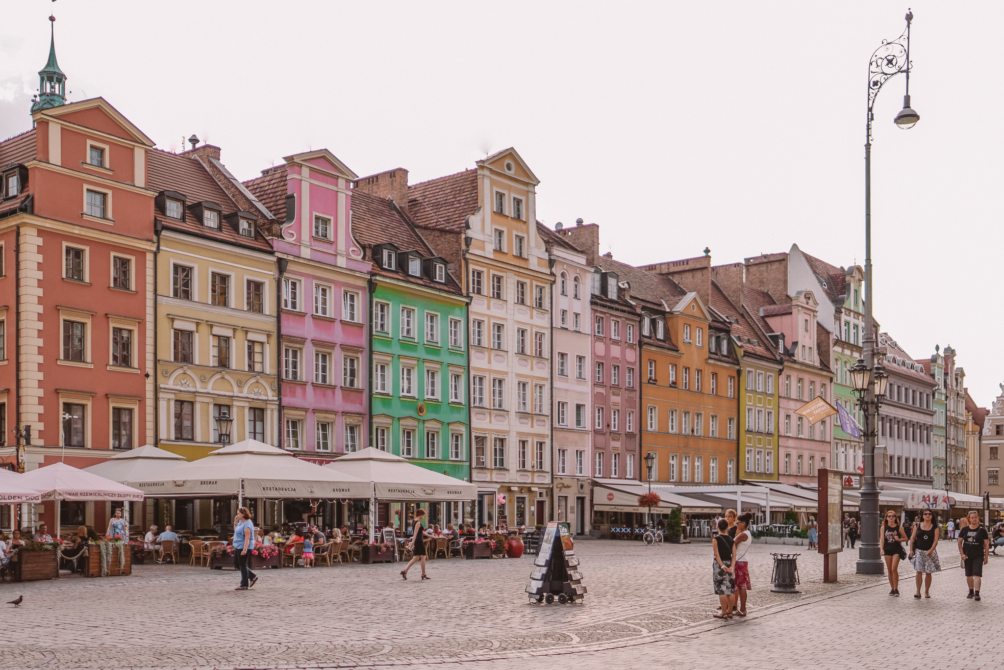 Colourful shops of Wroclaw, Poland