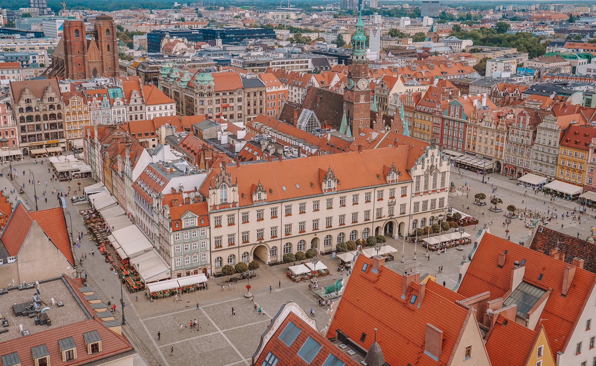 View over Wroclaw Market Square