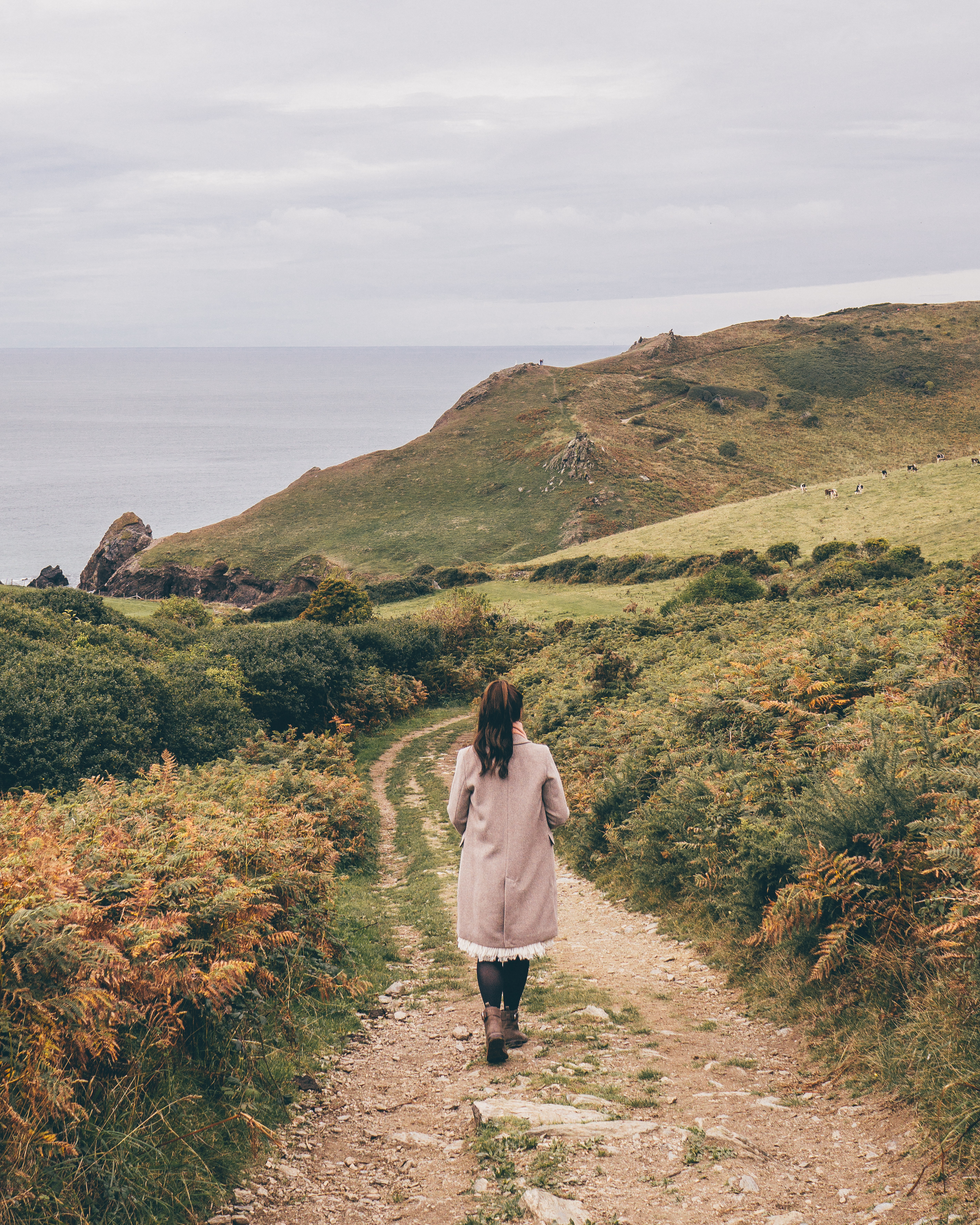 Walking the South West coast Path to Hope Cove, Devon