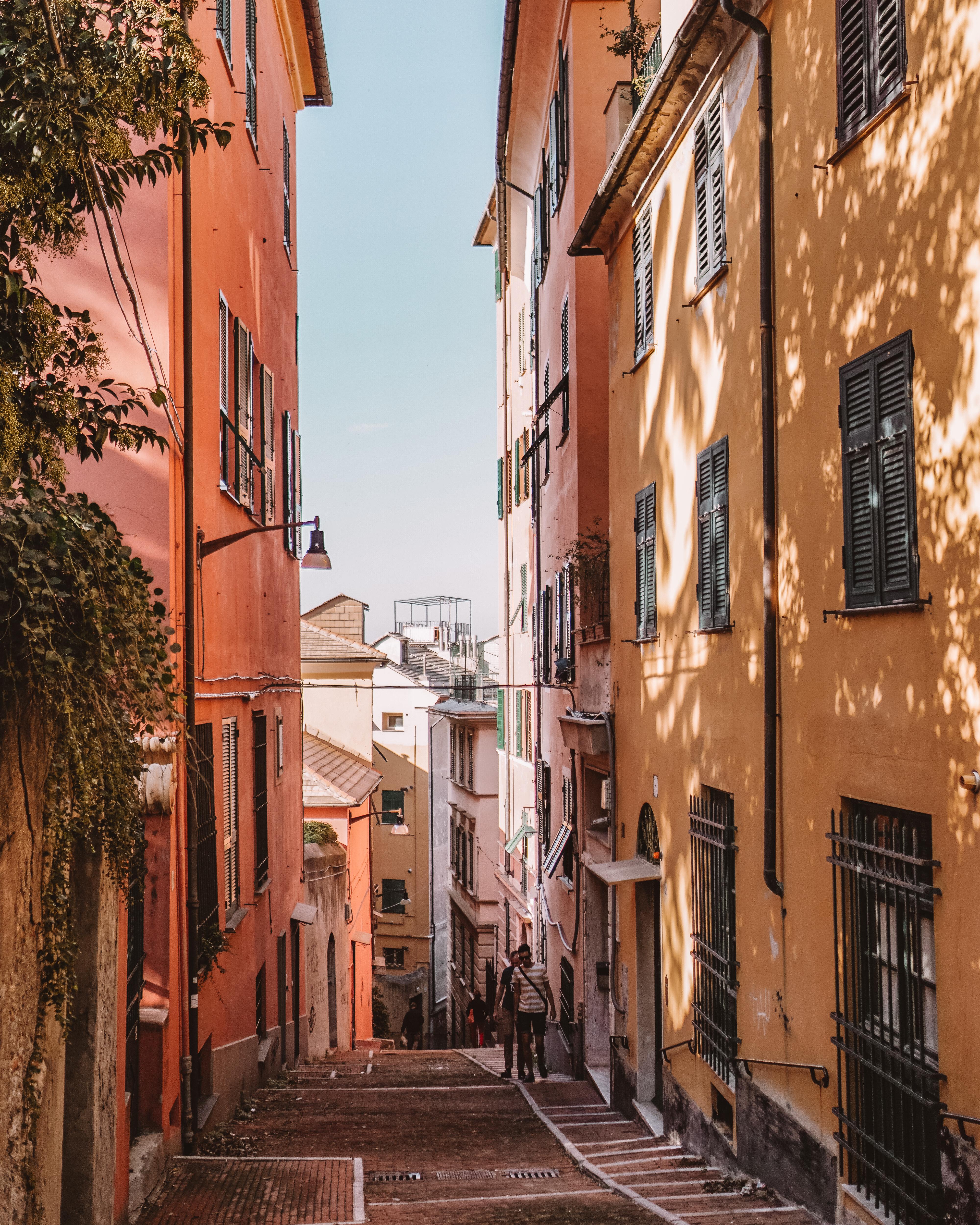 Walking through the streets of Genoa, Liguria