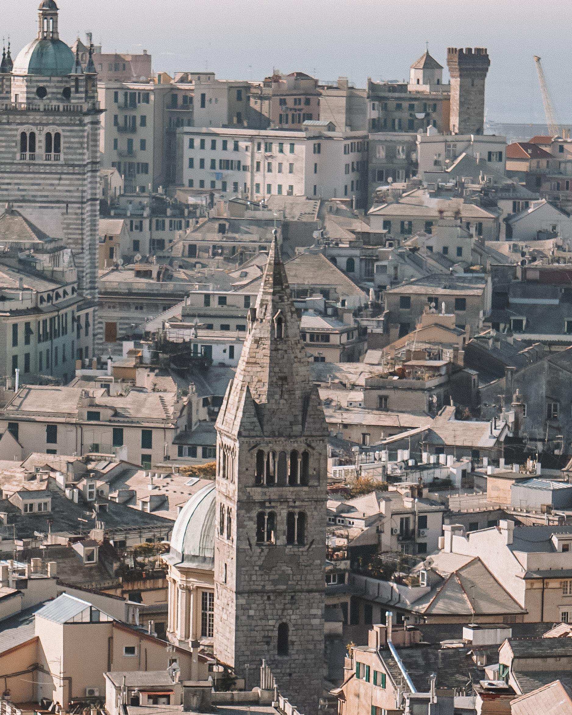Overlooking Genoa, Italy