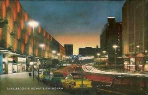 Birmingham classic car postcard