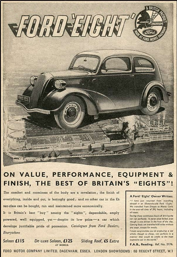 Advert For Ford Eight