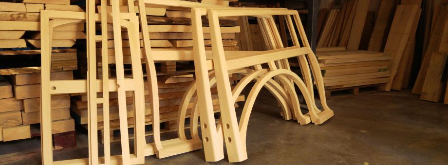 Wooden frame for Morris Minor Traveller