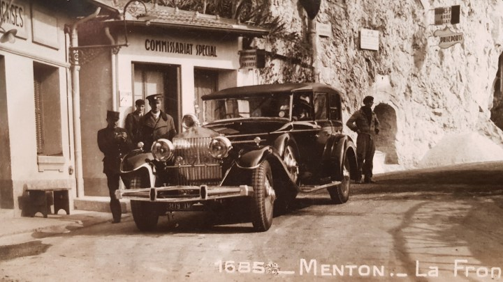 Close up of Classic Rolls Royce and Chauffeur