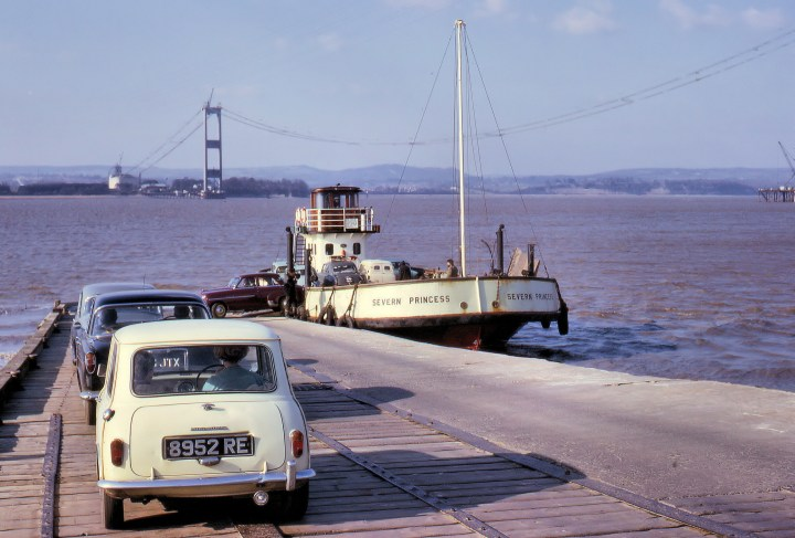 Aust Ferry with classic cars