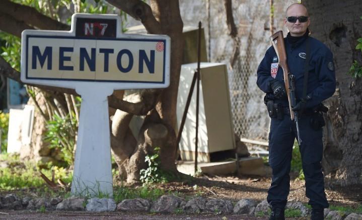French policeman at Menton 2018