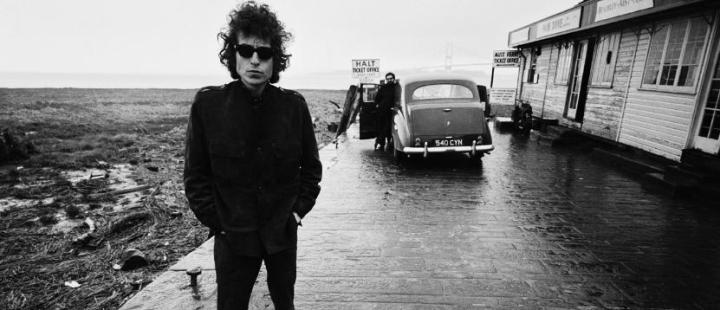 Bob Dylan with Austin Princess Classic Car