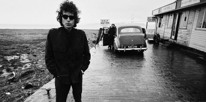 Bob Dylan with Austin Princess Classic Car