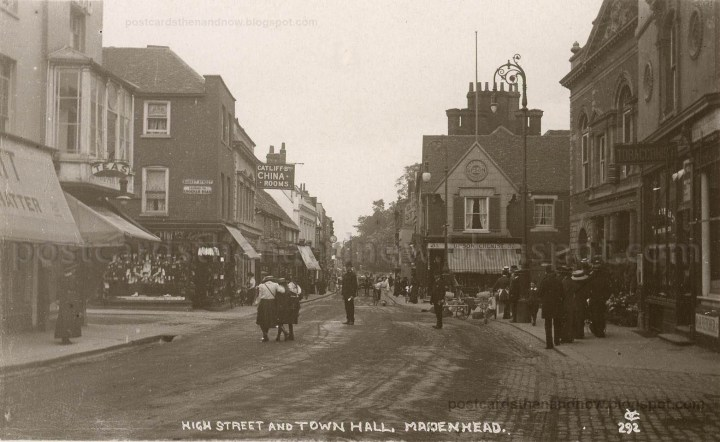 High Street Maidenhead 1910 postcard