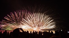 All over Japan firework displays illuminate the skies.