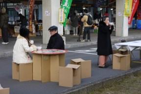Festival preparation: cardboard furniture- check!