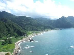 The scenery on Sado Island was stunning