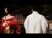 A wedding shoot at Ritsurin Park