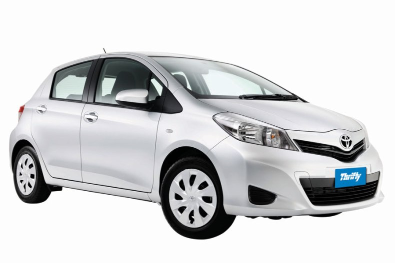 Thrifty car rental Toyota Yaris Gold Coast