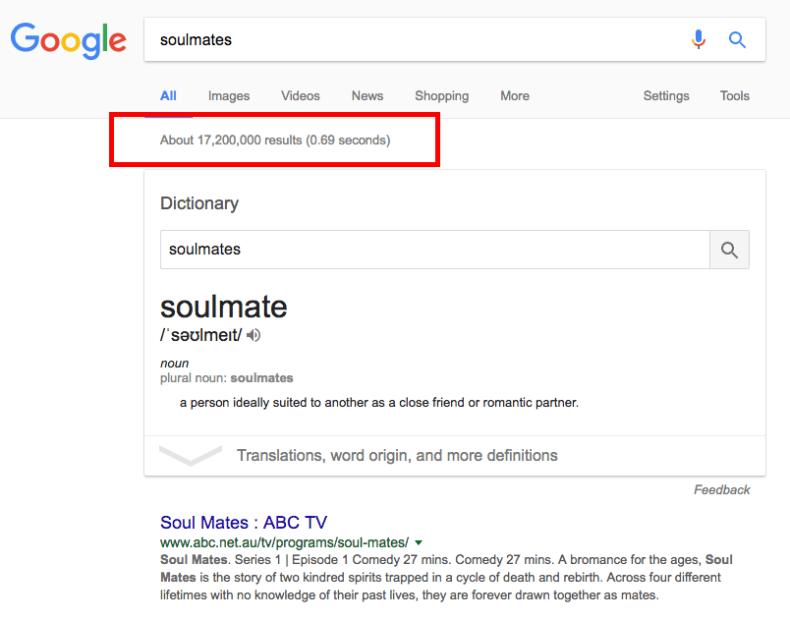 Soulmates on Google