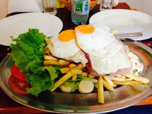 Chivito platter for two