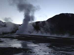 Tatio Geysers at sunrise