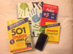 Spanish tools-my phone and notebook are most important
