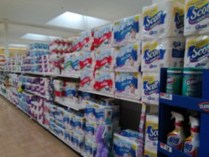 TP aisle at Giant. Photo credit: Eileen Slovak