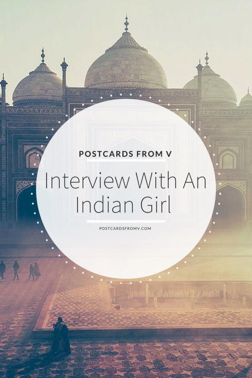 pinterest, interview, indian girl, akshatha, postcards from v