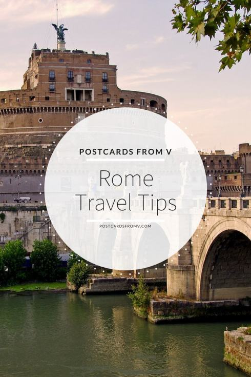 pinterest, rome, travel tips, postcards from v