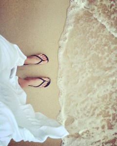 Beach, Ocean, Flip-flops