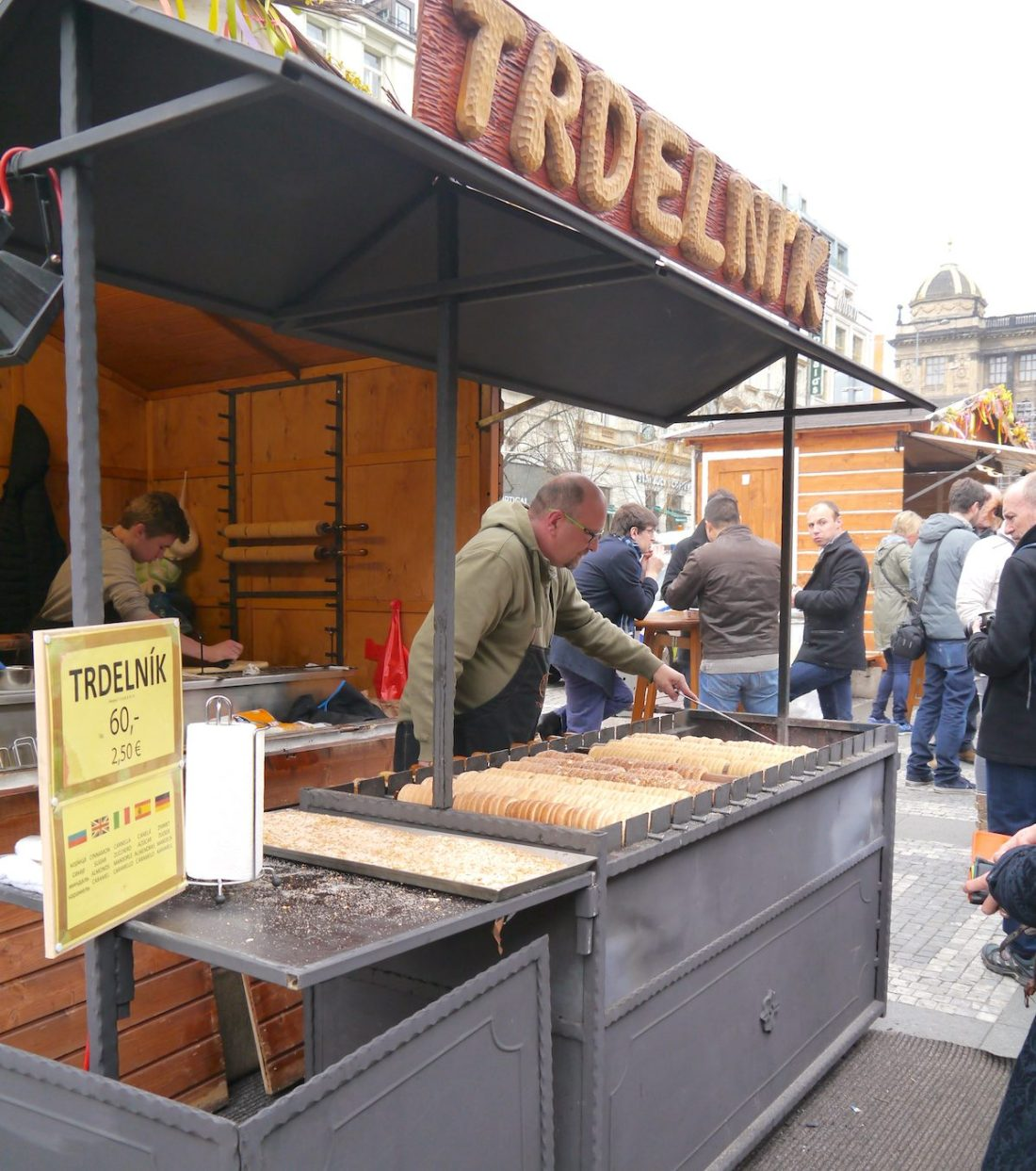 Cafés, Prague, Food Market, Trdelnik