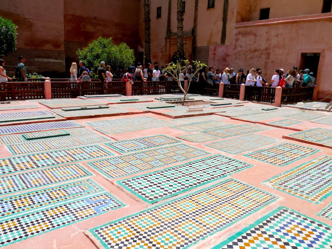 Solo Guide, Marrakech, Morocco, Saadian Tombs, Mosaic