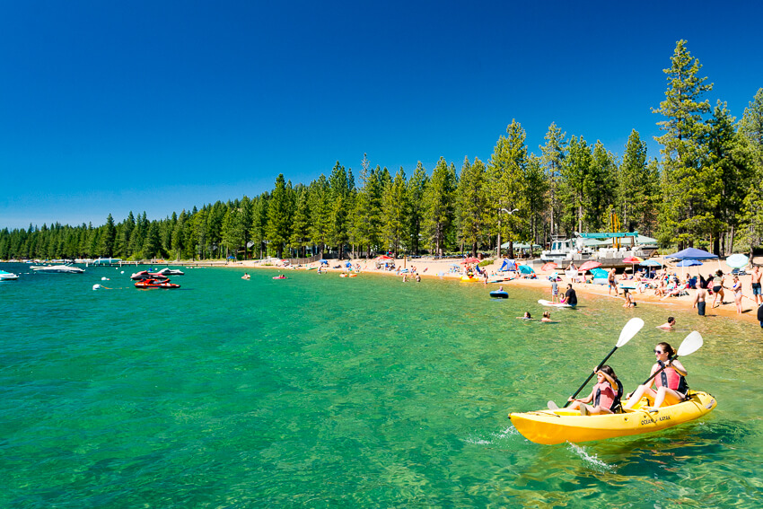 summer lake tahoe kayaking
