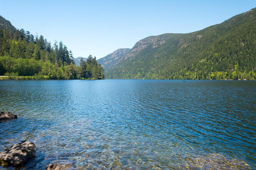 drive vancouver island cameron lake