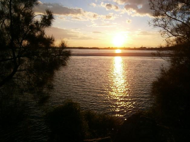 Sunset in Forster