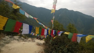 Prayer flags along the way
