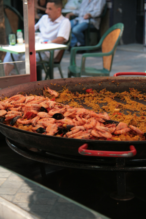 Paella.  Must have been good.  Half of it was gone and it was only 10.30 am.
