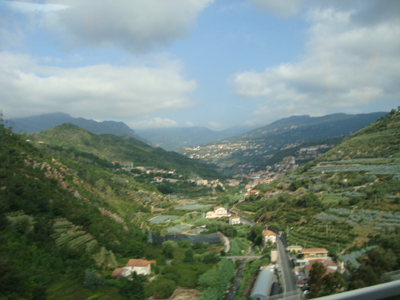 One of many valleys we passed from Genoa to Nice.  Hey! This looks like my banner head.  Sorta kinda.