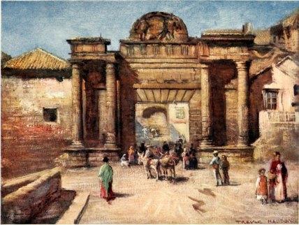 """The Entrance to the City"" by Arthur Trevor Haddon, 1908"