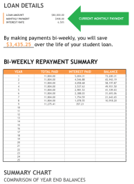 Student Loan Payment Tracker