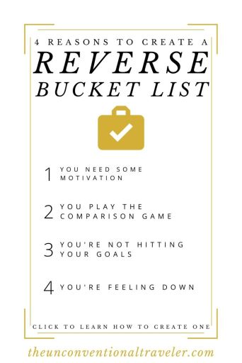 4 reasons to create a reverse bucket list - pinterest