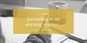 Morning-routine-journaling