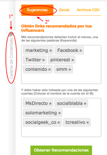 Recomendaciones de Contenido Automáticas - Generar contenido para redes sociales