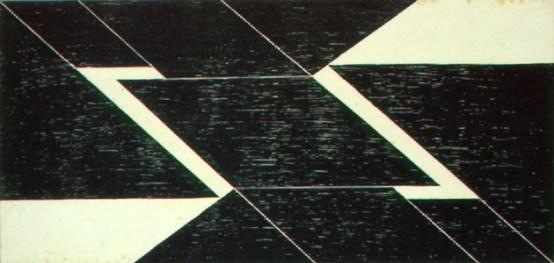 Tecelar 1955 Xilogravura sobre papel japônes 43.5cm x 31cm