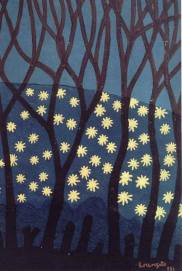Noturno I, Lorenzato, óleo sobre madeira, 68x45cm, 1981, coleção particular